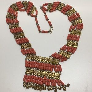 Egyptian revival vintage lucite necklace